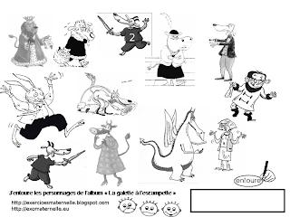 Maternelle la galette l 39 escampette retrouver les personnages de l 39 histoire - Personnages de roule galette ...