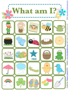 http://www.teacherspayteachers.com/Product/What-Am-I-Spring-Edition-A-Describing-Game-1125292