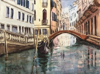 Venice, Italy Watercolor Painting on paper Popular Classic Postcard or Pochade size 6 x 8 inches or 15 x 20 cm