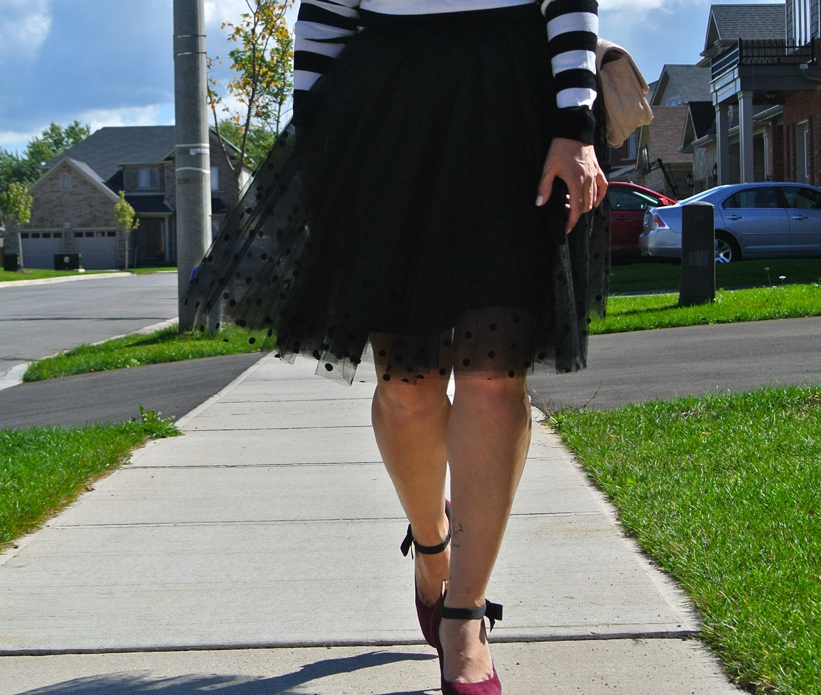 nine west gushing parisian look tulle skirt