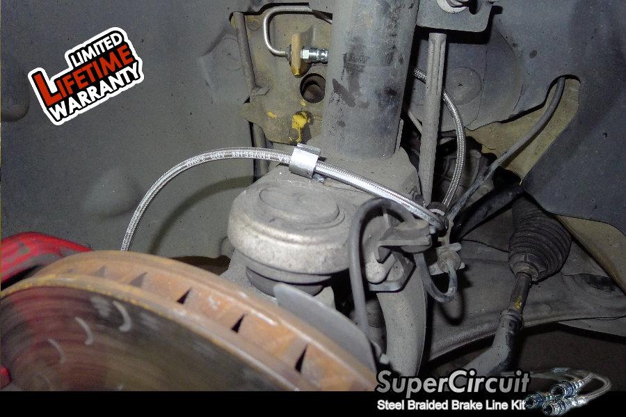 Steel Braided Brake Lines Installed : Supercircuit steel braided brake lines renault megane