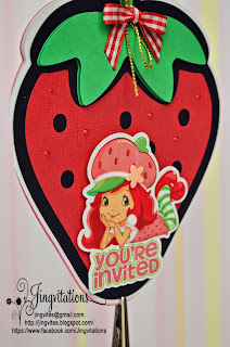 strawberry shortcake birthday party invitations