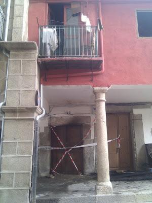portales donde se produjo el incendio en la plaza mayor