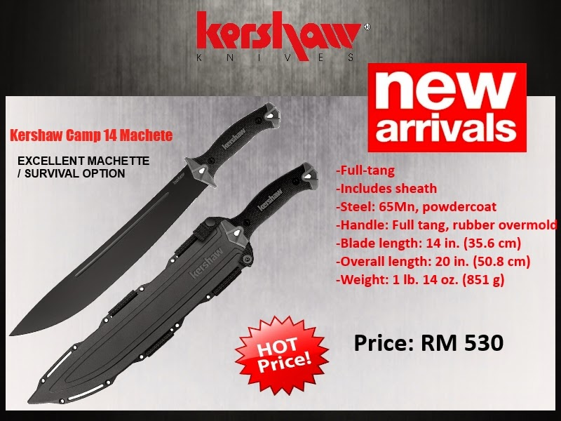 Kershaw Camp 14 Machete now at RM 530.00 only!