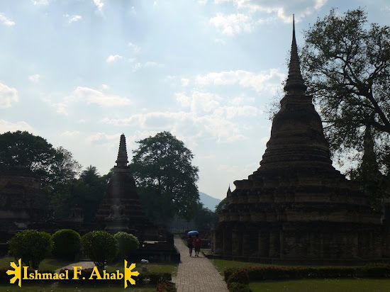 Pagodas in Sukhothai Historical Park