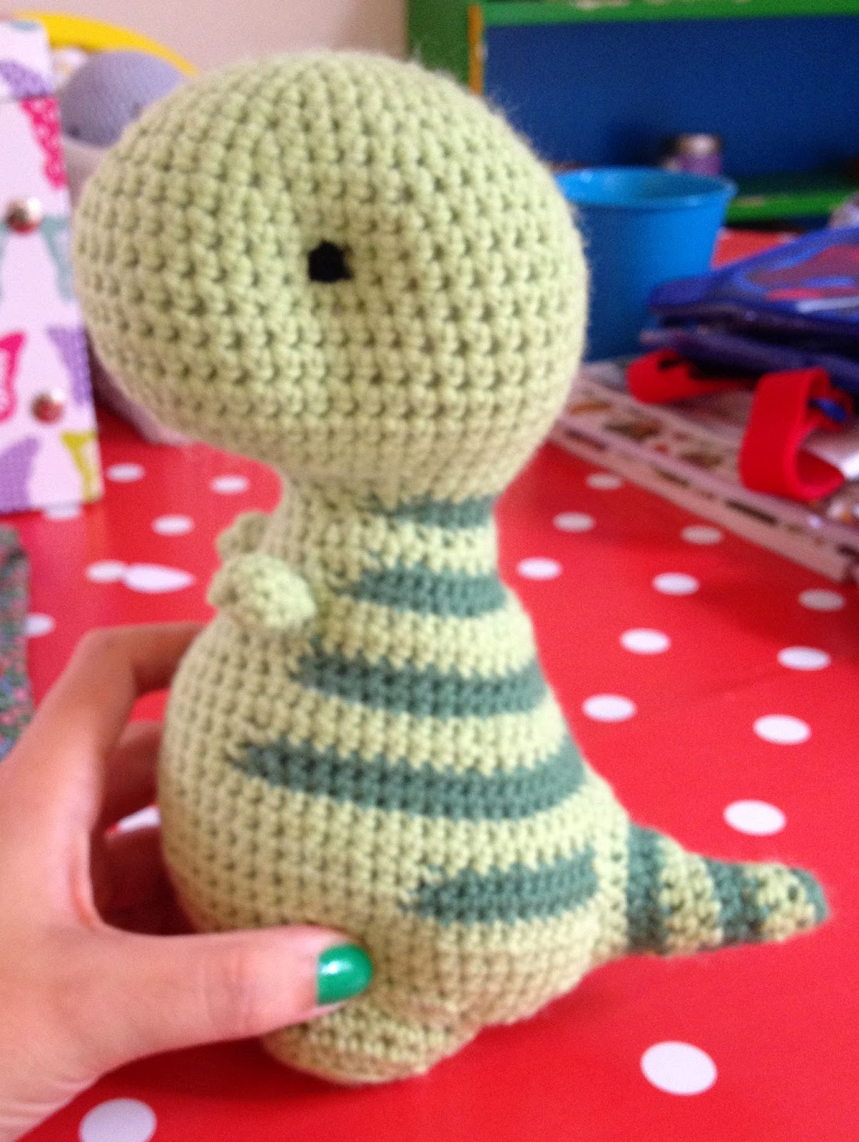 The Perfect Hiding Place: A Crochet Dino - Pattern Review