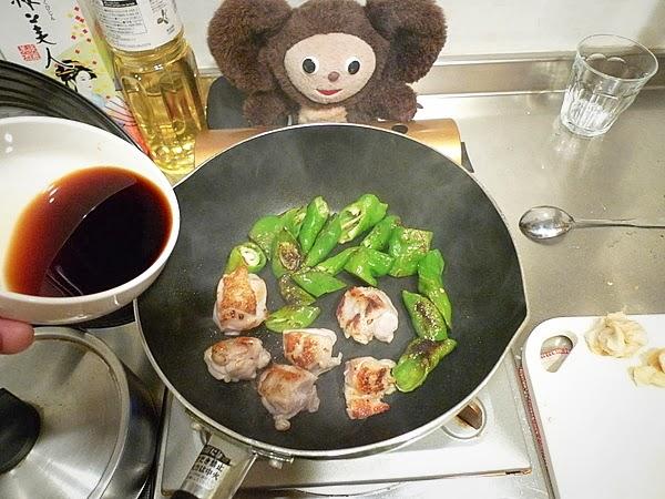 満願寺と麸の焼き鳥丼の作り方(2)