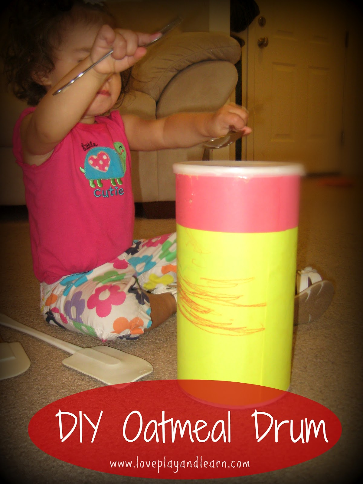 Homemade drum for kids