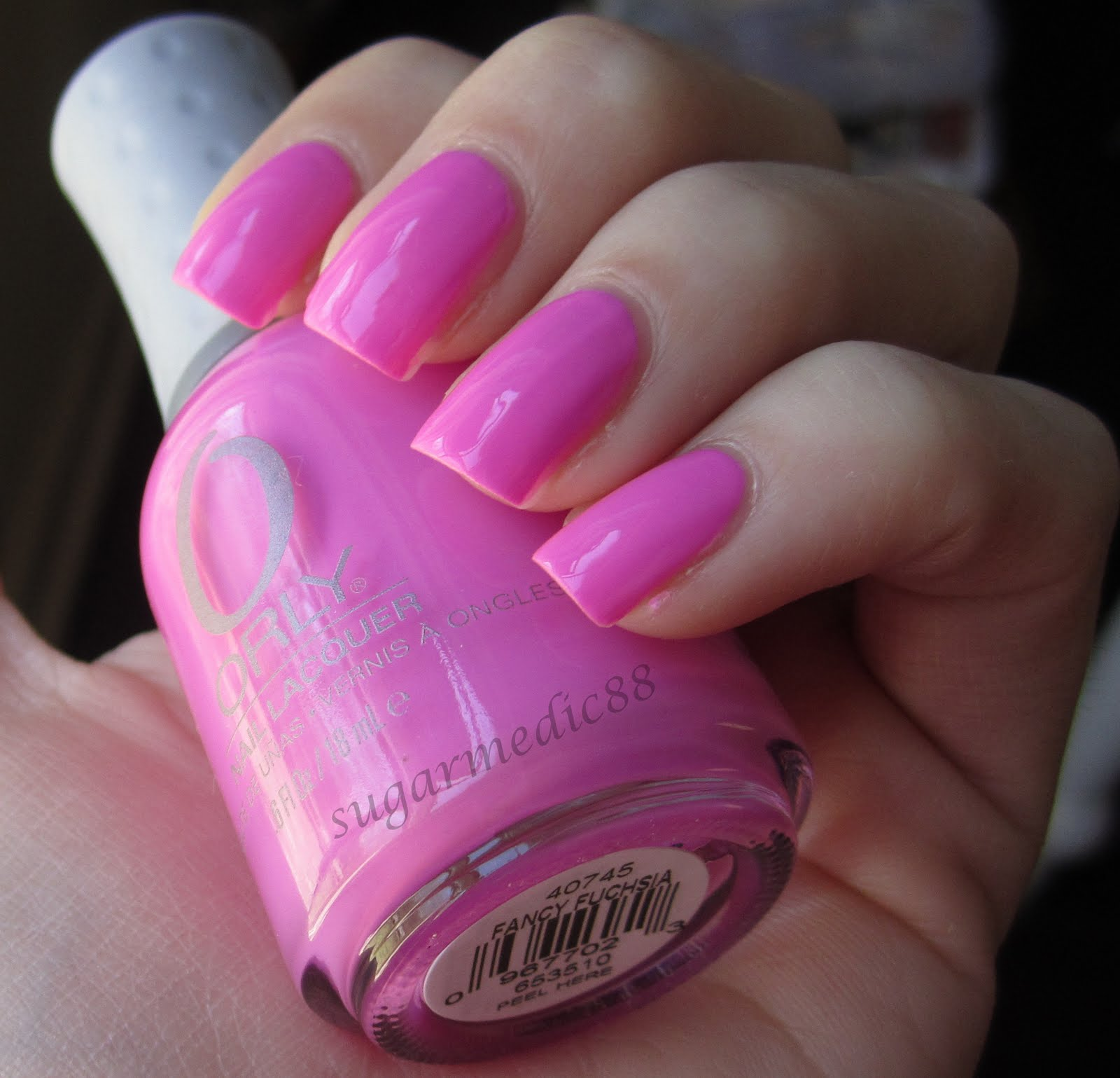 The Polished Medic: Orly Fancy Fuchsia - the perfect Barbie pink
