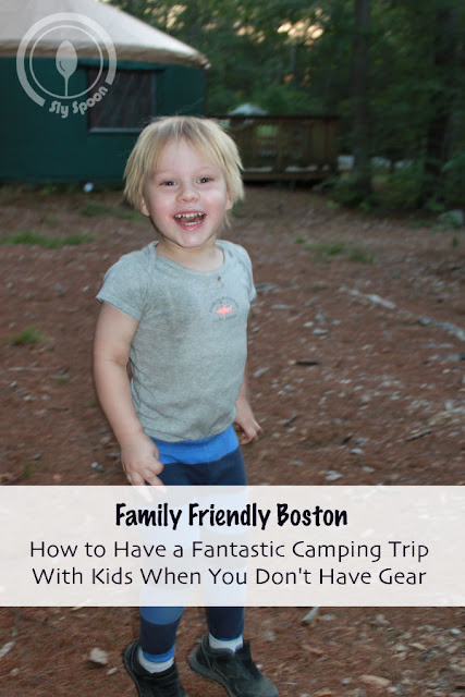 How to Have a Fantastic Camping Trip With Kids When You Don't Have Gear (Shawme-Crowell State Forest)