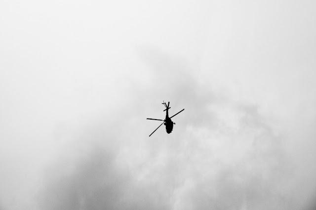 helo over Dhaka