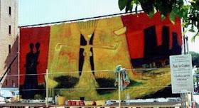 lavoro di mauro focardi alla manifestazione arte in strada comune xxmiglia