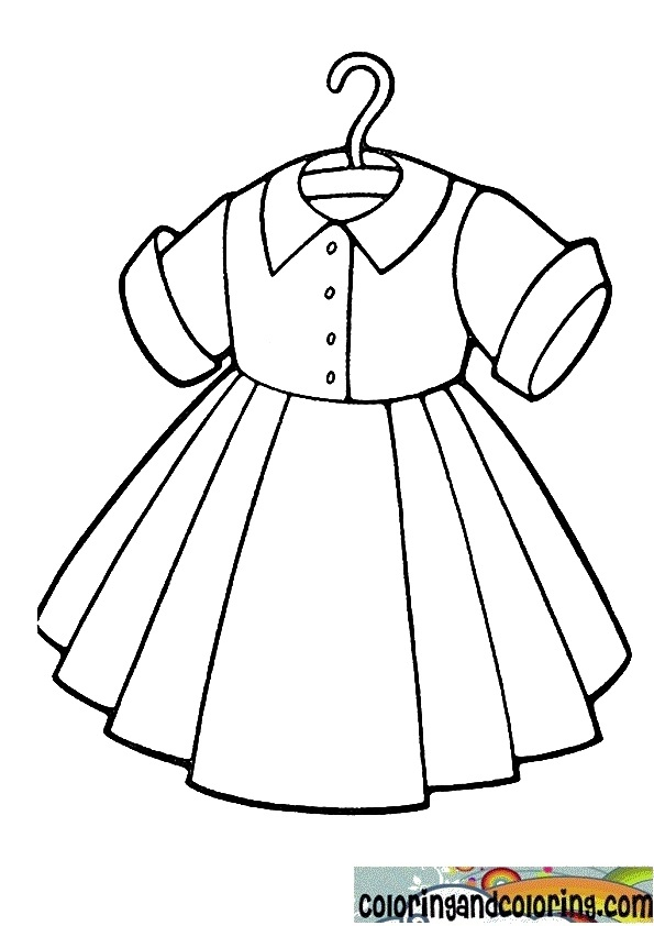 Free Coloring Pages Of Clothes And Dresses Dresses Coloring Pages