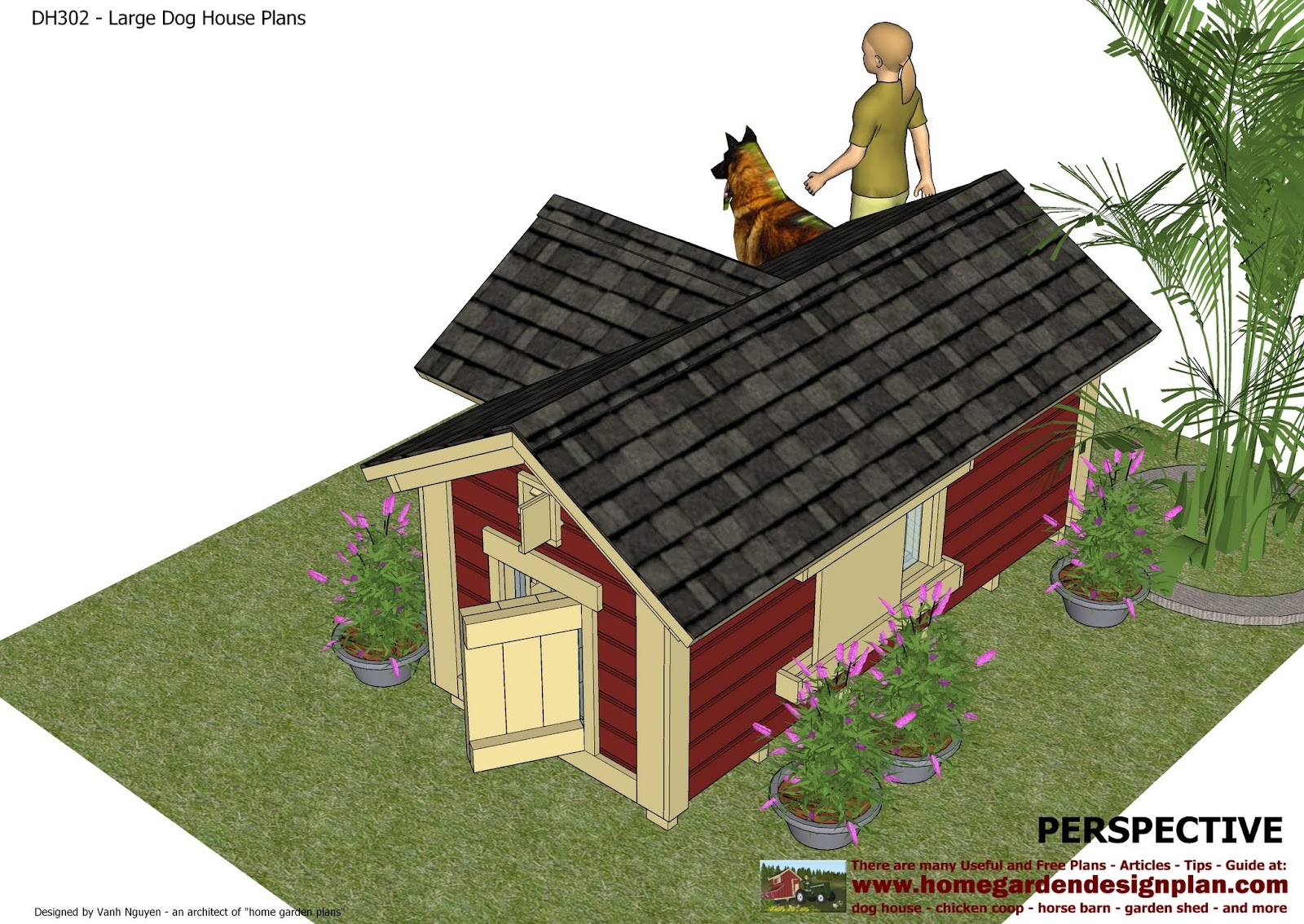 Insulated dog house plans for large dogs free - photo#14