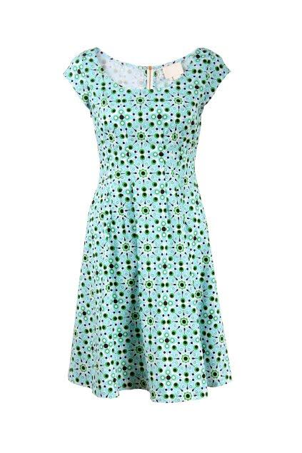 Short Sleeve Totem Print Dress