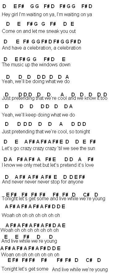Flute Sheet Music Live While Were Young