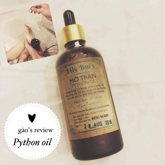 [Gào's review] Dùng Python Oil dưỡng da cho mẹ và bé!, mỡ trăn, mỡ trăn làm đẹp, mỡ trăn bôi bỏng, mỡ trăn tốt, mỡ trăn xịn
