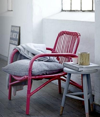 A classic is back le fauteuil en rotin - Peindre fauteuil osier ...