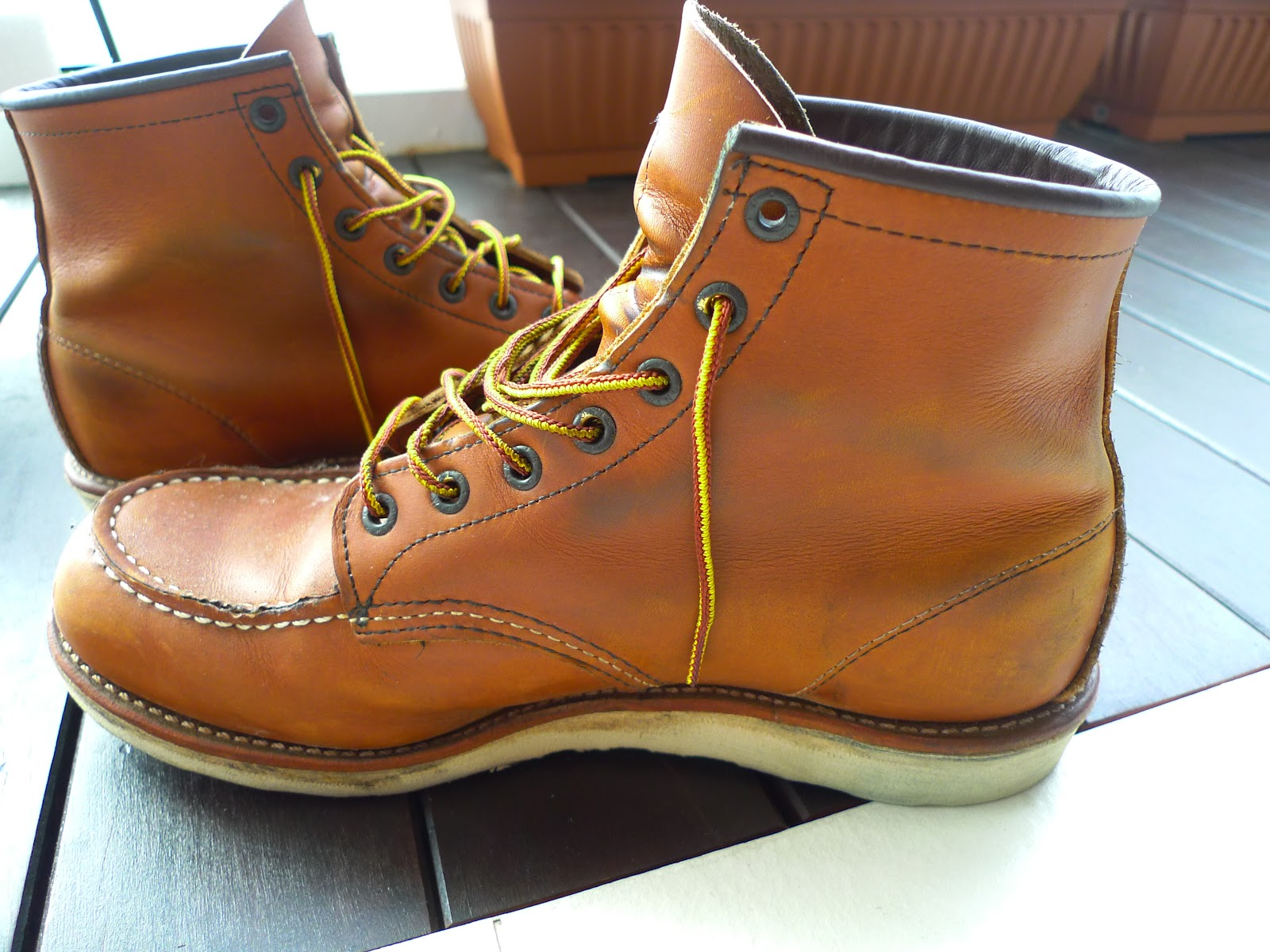 Goody Leathery: Red Wing 875 (after 1 month)