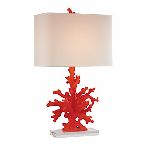 New! Red Coral Lamp