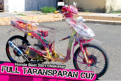 Modifikasi Honda Beat Transparant