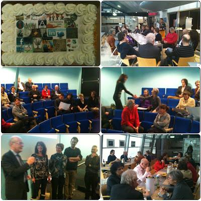 Zeeuws Archief, collage slotbijeenkomst deelnemers cursus 23 Dingen voor Zeeuwse archiefdiensten, 31-01-2013.