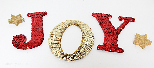 how to make sequin letters