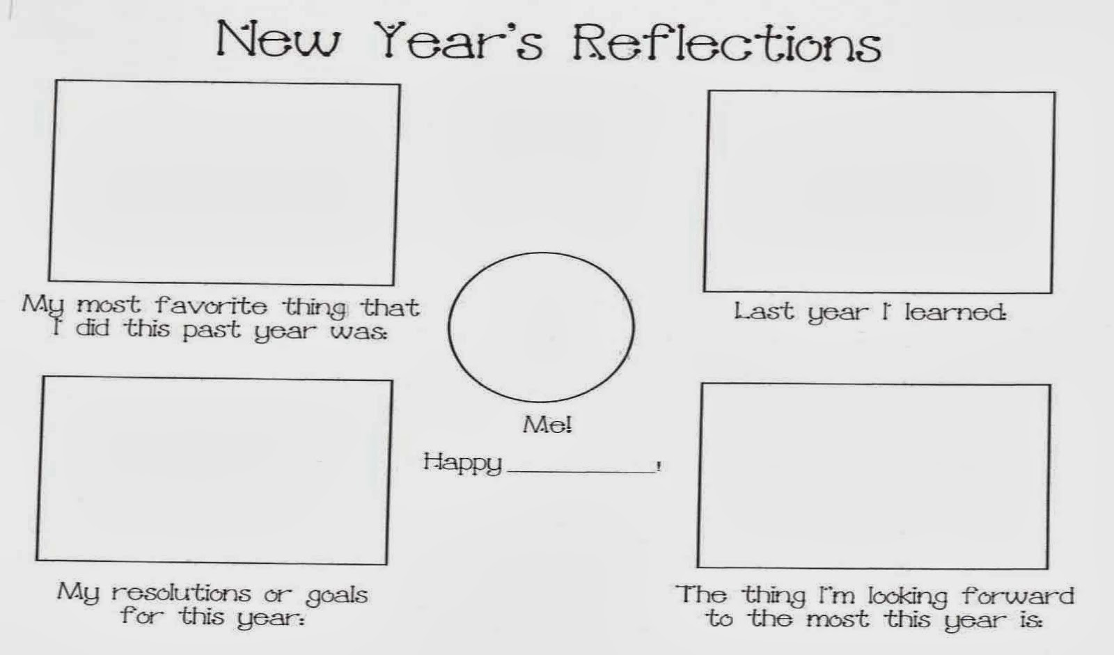 New Year Reflections - Classroom Freebies