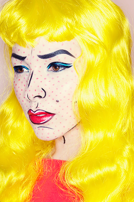 Halloween makeup ideas Pop Art