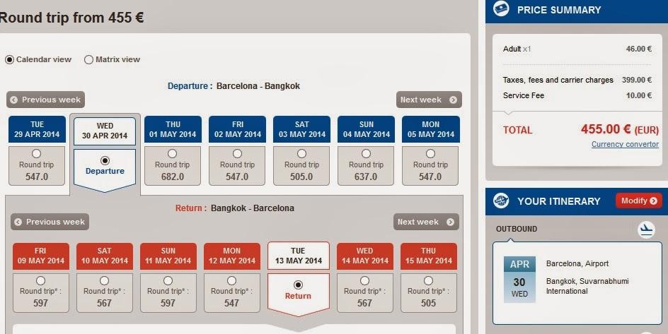 Vuelos baratos Bangkok desde Barcelona
