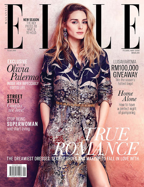 Socialite, Model, Actress, @ Olivia Palermo by Carla Guler for ELLE Malaysia, February 2016