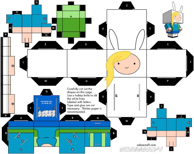 Crear a Fionna de Papel Armable ~ Hora de Aventura - Adventure Time
