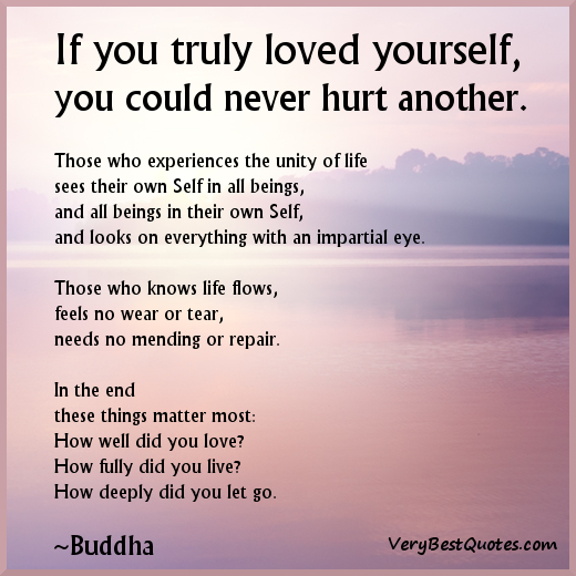 Quotes About Love Yourself : buddha-quotes-love-yourself-quotes-never-hurt-others-quotes.jpg