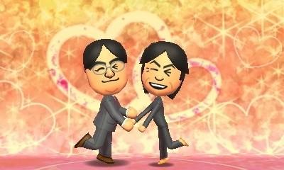 No jogo Tomodachi Collection: New life, dois avatares do sexo masculino podiam ter uma relação amorosa (Foto: Reprodução Internet)