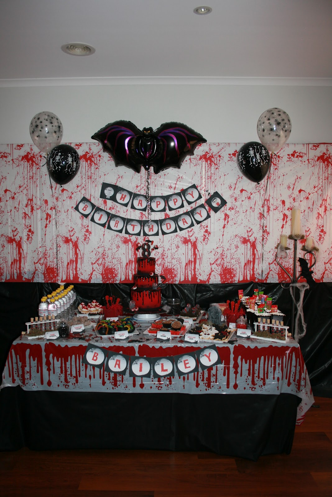 Zombie Birthday Party Decorations Image Inspiration of Cake and