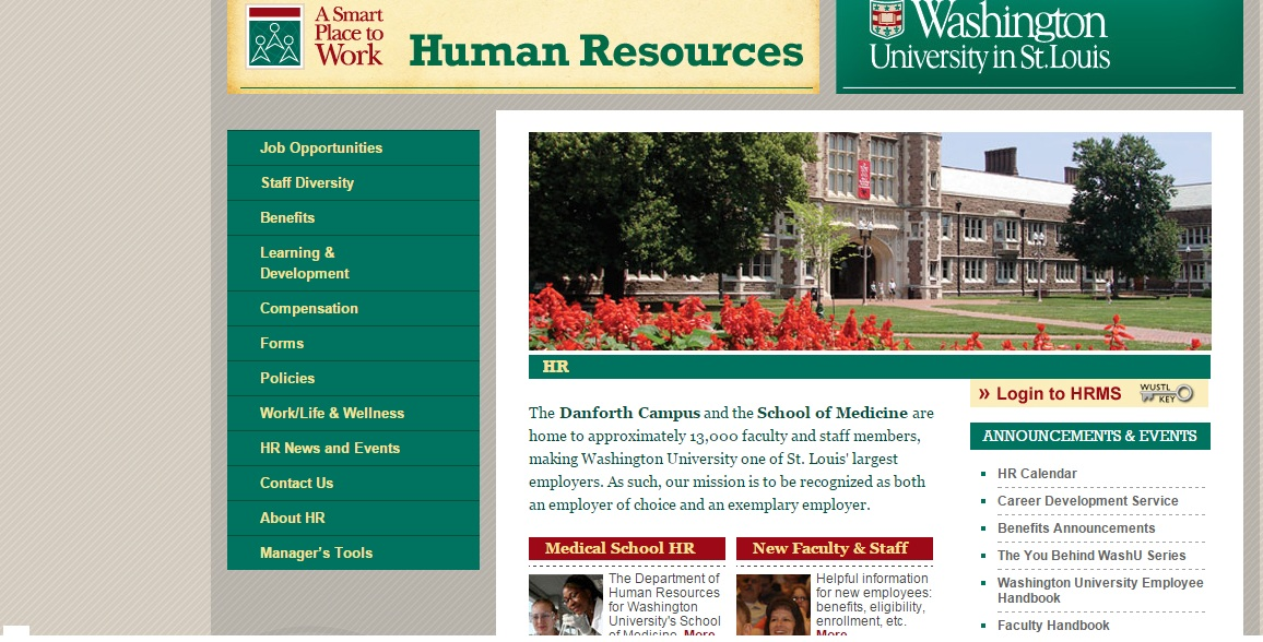 HRMS WUSTL Washington University in St Louis Payroll