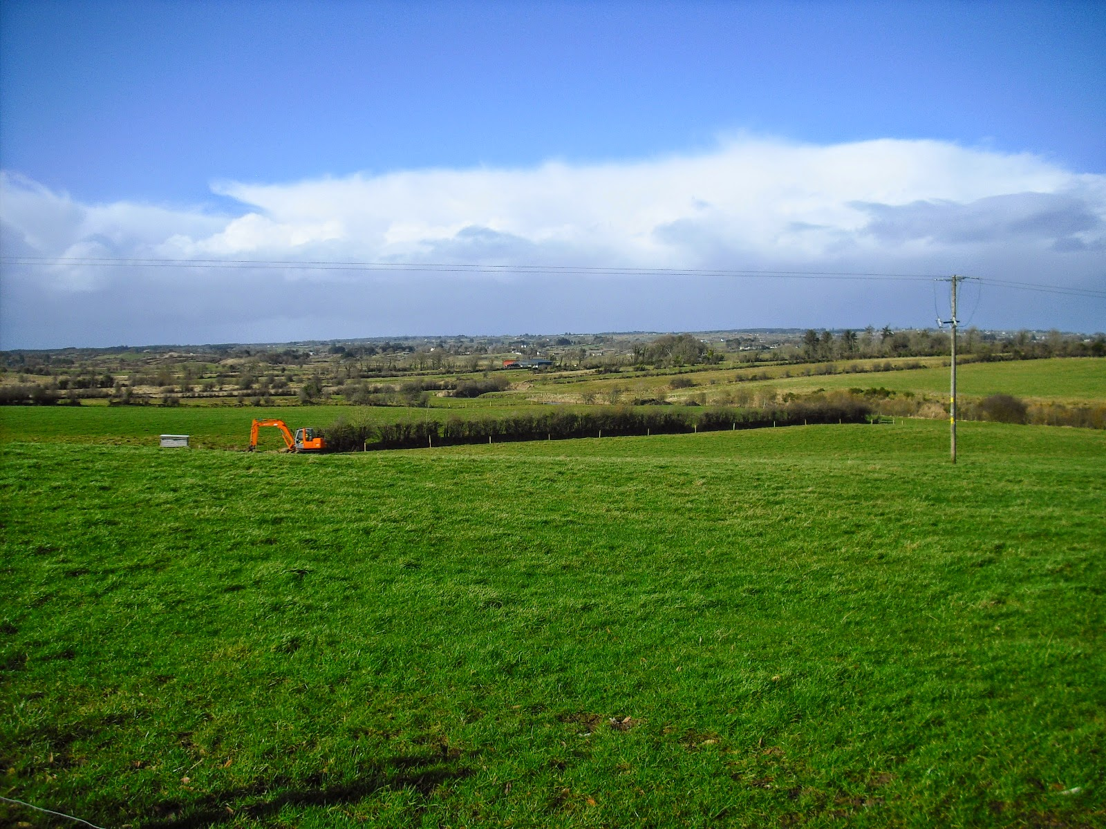 Blue skies in Creevy, Lisacul, Co Roscommon.