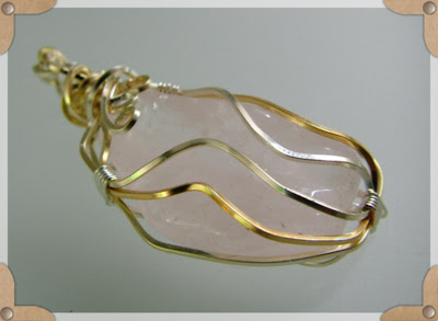 Freeform Wire Wrapped Pendant