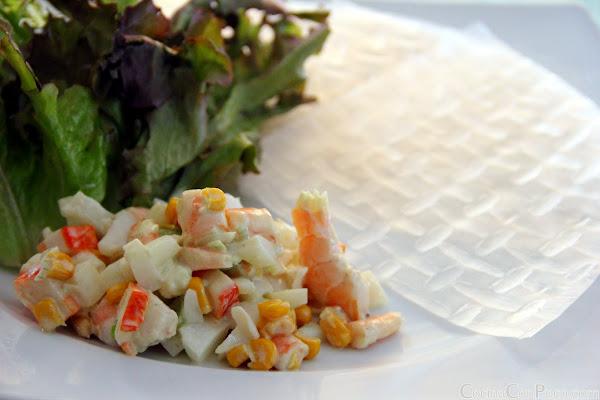 Rollitos de Sepia y salsa de Wasabi