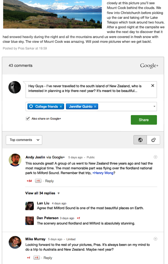Google+ Comments To Blogger Blog
