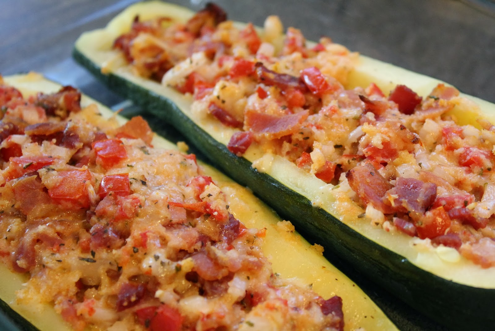 The Kipe KitchenBLT Stuffed Zucchini Boats