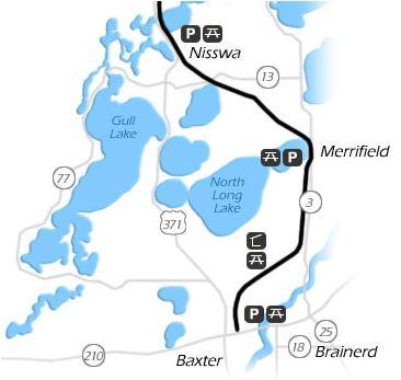 MN Bike Trail Navigator May - Paul bunyun in us map