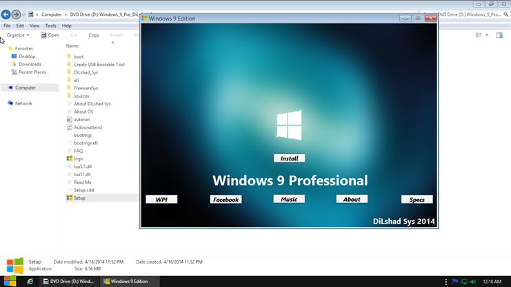 Windows+9+Professional+2014+x64+x86