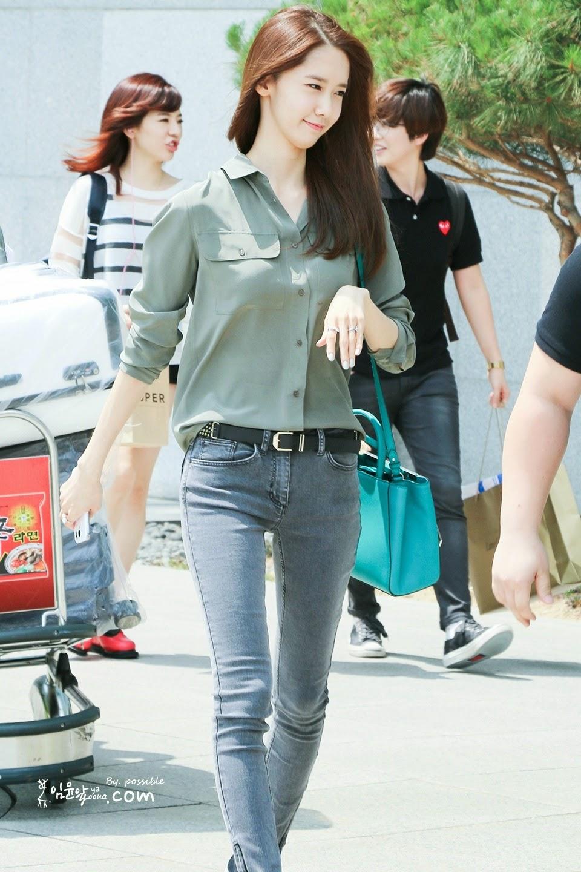 Airport Fashion Snsd Yoona Official Korean Fashion