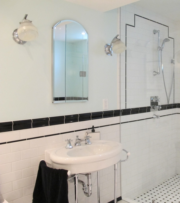40 Wonderful Pictures And Ideas Of 1920s Bathroom Tile Designs: Tiffany Leigh Interior Design: Art Deco Showers