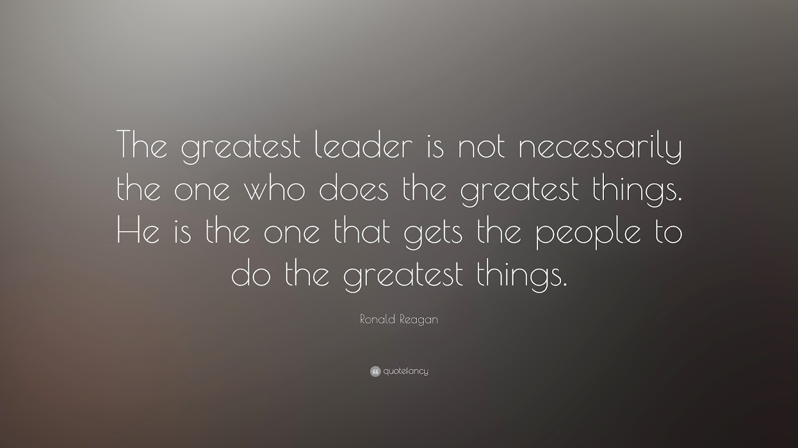 the greatest leader