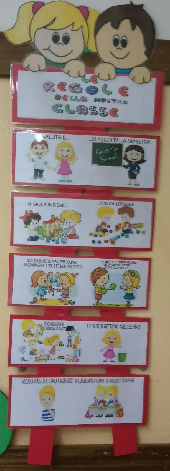 Il blog della maestra francy le regole il cartellone for Lavoretti creativi accoglienza