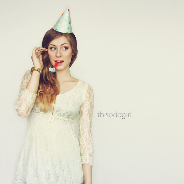 birthday, sweet 16, marijn haertel, lace dress, michael kors, watch, blue eyes, loreal, hair, this odd girl, studio, white background