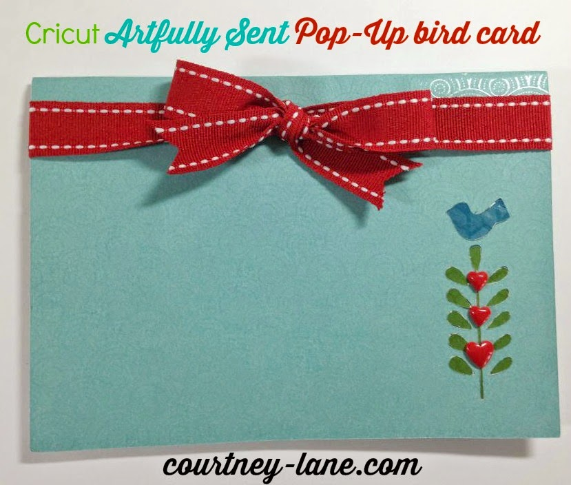 Close To My Heart Artfully Sent Cricut cartridge Pop Up Bird card