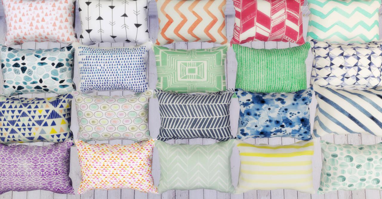 Throw Pillows Sims 4 : My Sims 4 Blog: Jonesi Blankets & LeeHee Pillow Recolor! Part 1&2 by Rachel